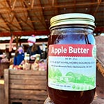 Glass Jar of Apple Butter by Chiles Family Orchards