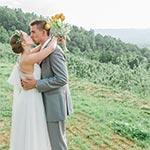 Wedding atop Carter Mountain