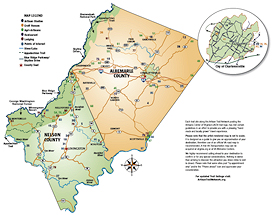 Monticello Artisan Trail Map