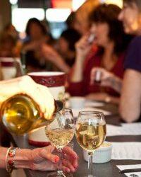 Pouring delicious wine