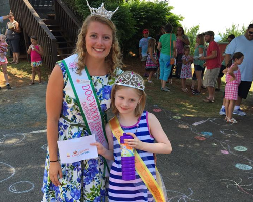 Peach court princesses at the Carter Mountain Orchard Peach Festival event