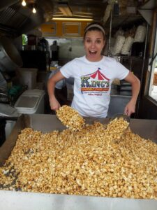 Caramel popcorn from King's Gourmet Popcorn in Afton VA