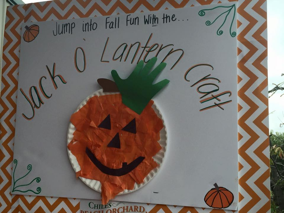 2015 Fall into Fun Festival in Crozet: Jack o' lantern craft