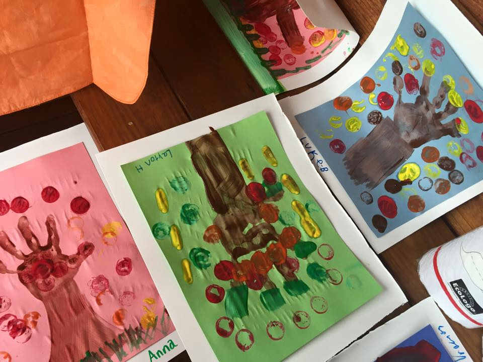 2015 Fall into Fun Festival in Crozet: Hand Painted Autumn Tree