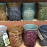Carter Mountain, pottery, stoneware mugs