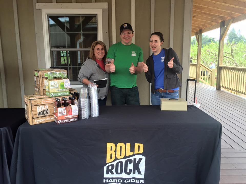 Bold Rock Hard Cider tasting at Chiles Peach Orchard