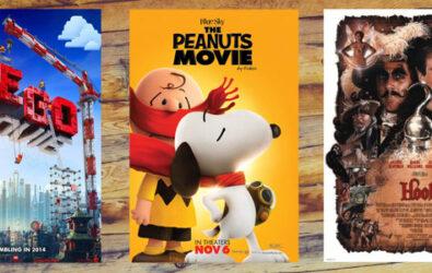 Free screenings of Lego Movie, Peanuts Movie, and Hook