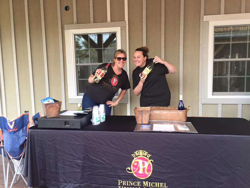 Prince Michel wine tasting at Chiles Peach Orchard