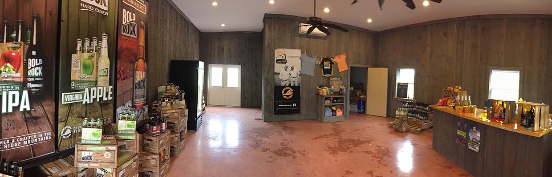 Bold Rock Hard Cider cellar interior in Crozet