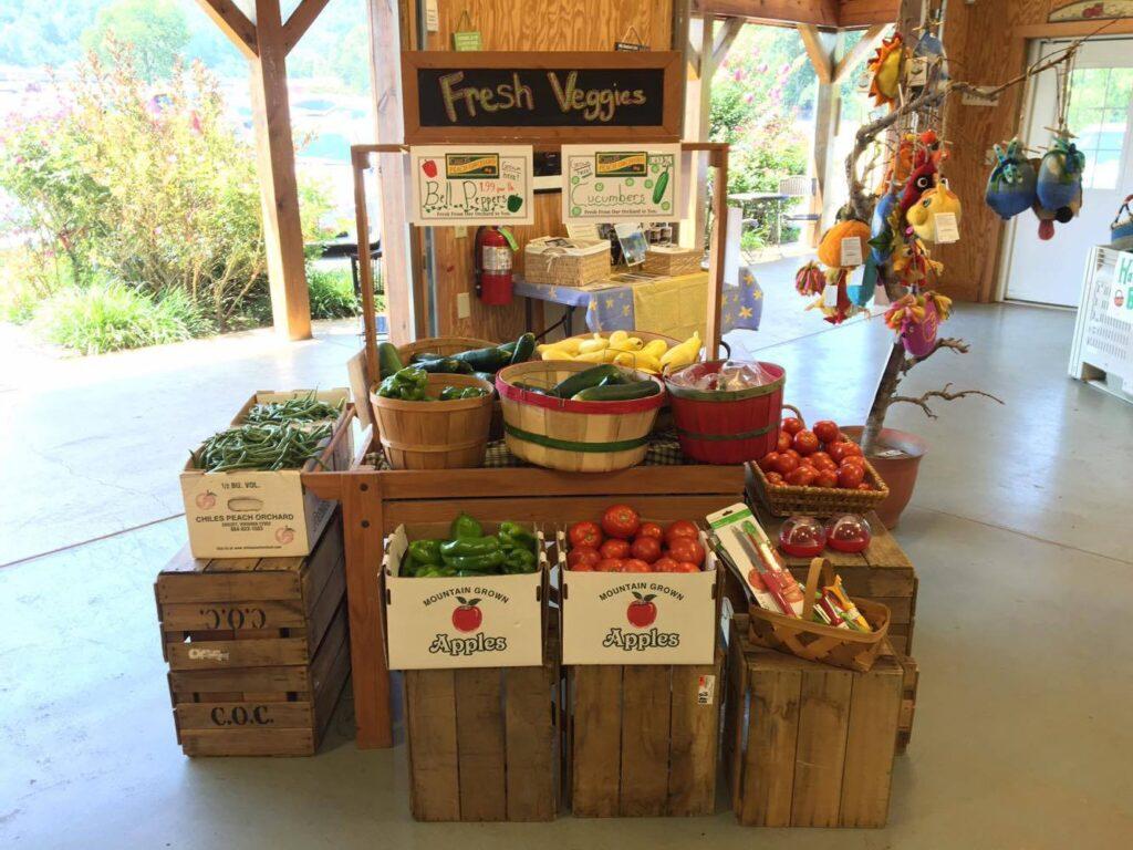 fresh vegetables at Chiles farm market