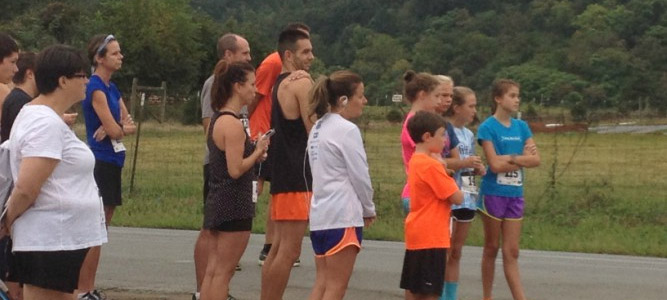 Pancake 5K run in Crozet at Chiles Peach Orchard