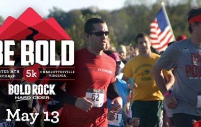 Orchard 5K race at Bold Rock Cellar on Carter Mountain May 13