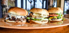sandwich trio at Carter Mountain's Mountain Grill