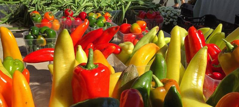 veggies at the charlottesville city market