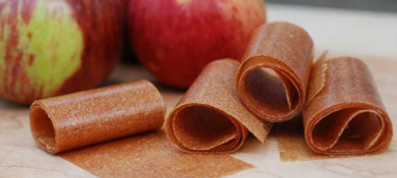 Homemade Apple Fruit Leather