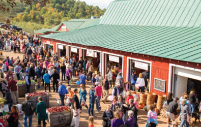 Crowd at Carter Mountain Apple Barn