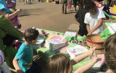 children enjoying craft projects