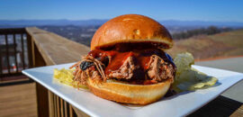 pulled pork barbeque at Carter Mountain Orchard Mountain Grill