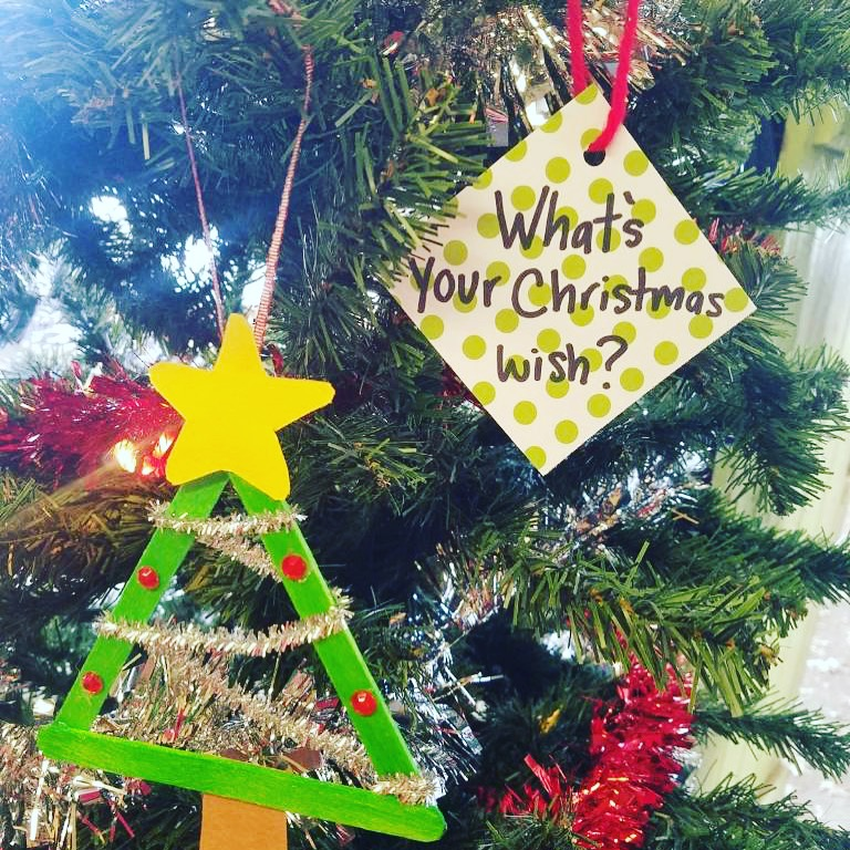 What's your Christmas wish? Ornament at Carter Mountain Orchard