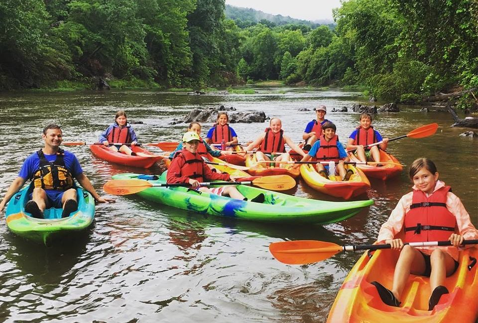 Kayaking with kids with Rivanna River Company