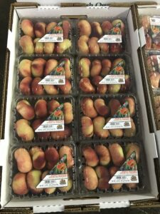Wholesale Peaches sold by Crown Orchard in clamshells