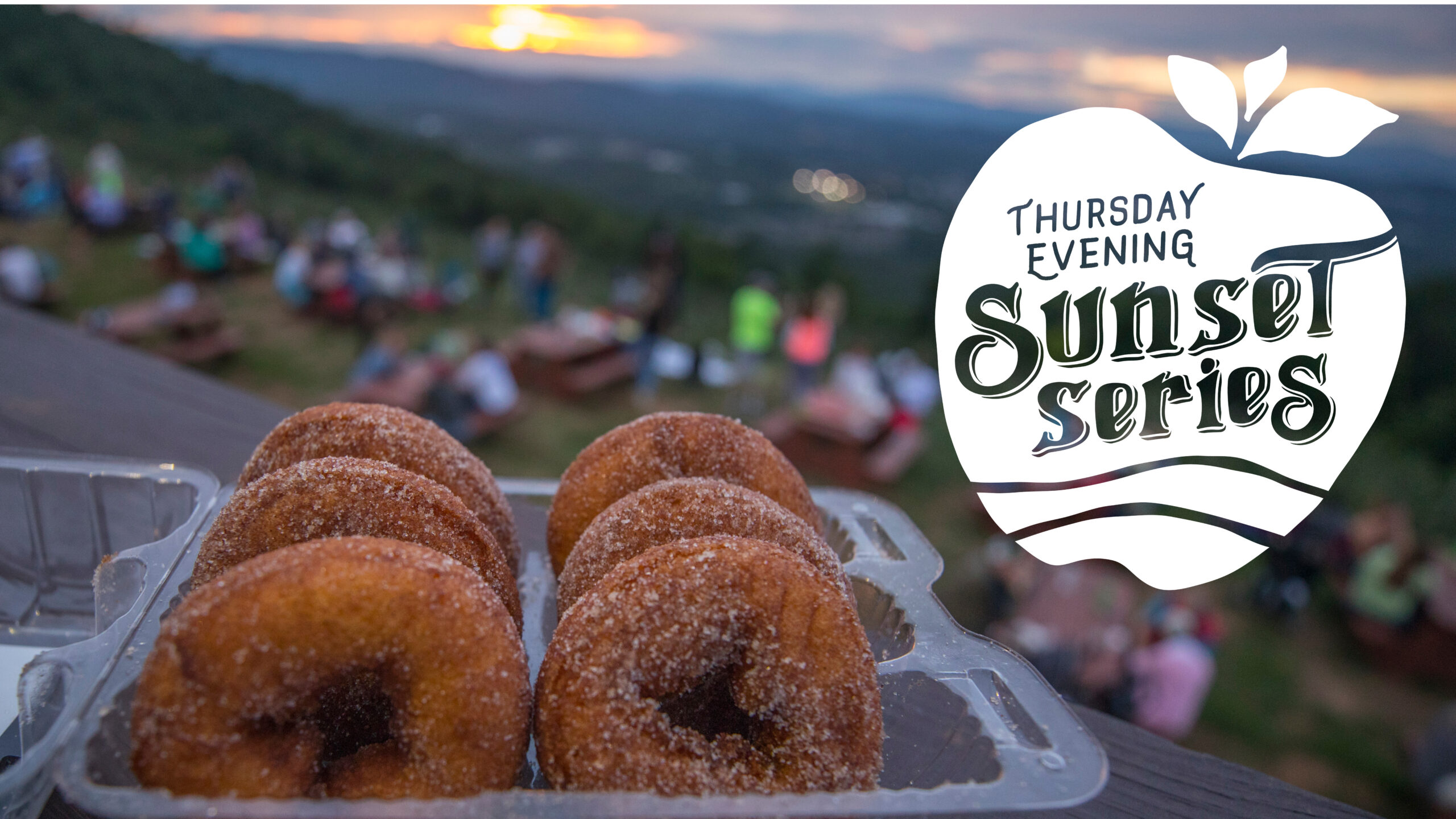 Thursday evening sunset series donuts graphic