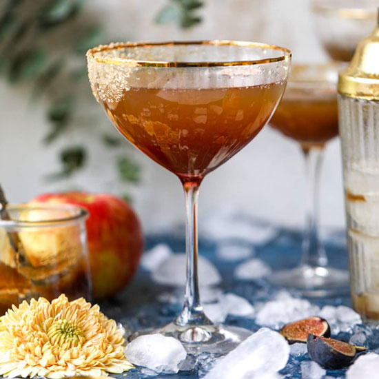 Apple butter bourbon cocktail
