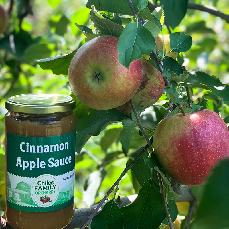 Cinnamon apple sauce made by Chiles Family Orchards