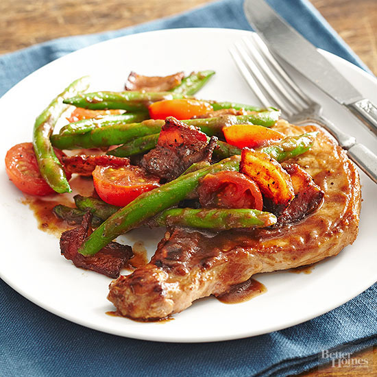 Pork Chops Primavera recipe by BHG