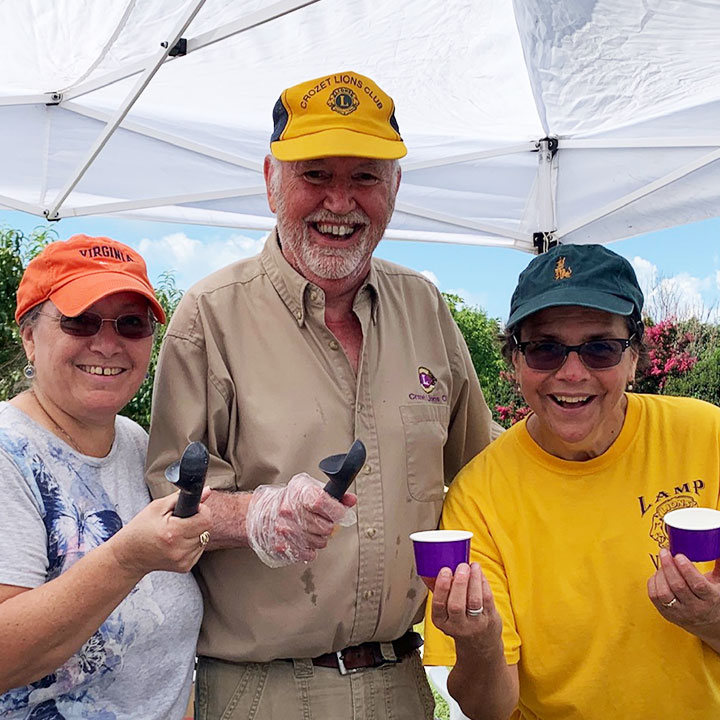 Peach Ice Cream Days is a fundraiser by the Lions Club Crozet at Chiles Peach Orchard