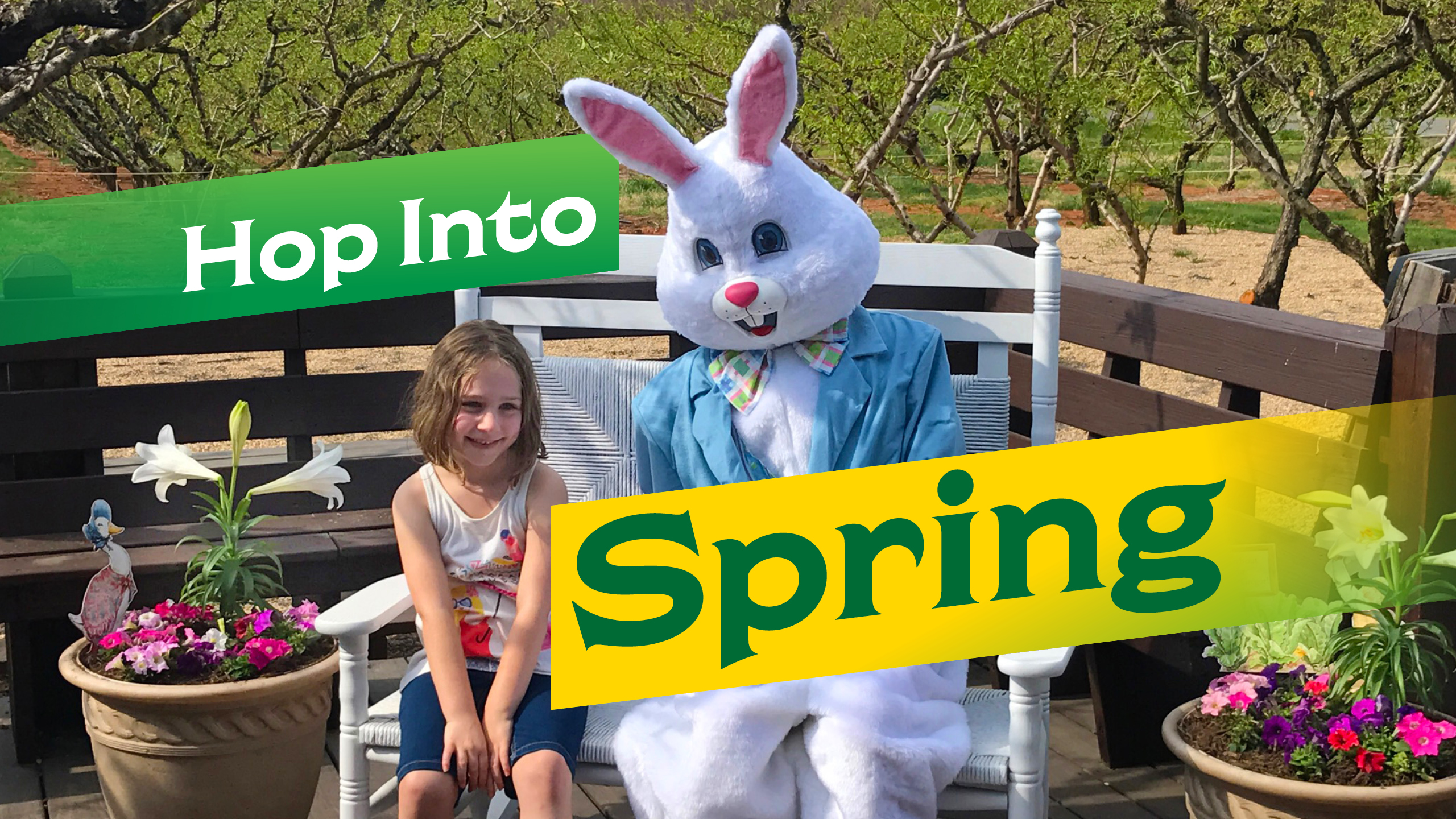 Hop Into Spring Easter event at Chiles Peach Orchard