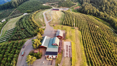 Aerial View of Carter Mountain Country Store