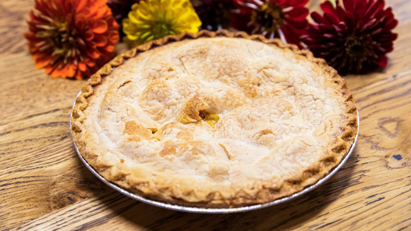 Homemade peach pie from Chiles Peach Orchard