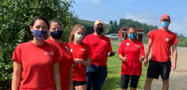 Carter Mountain Orchard staff wearing face masks
