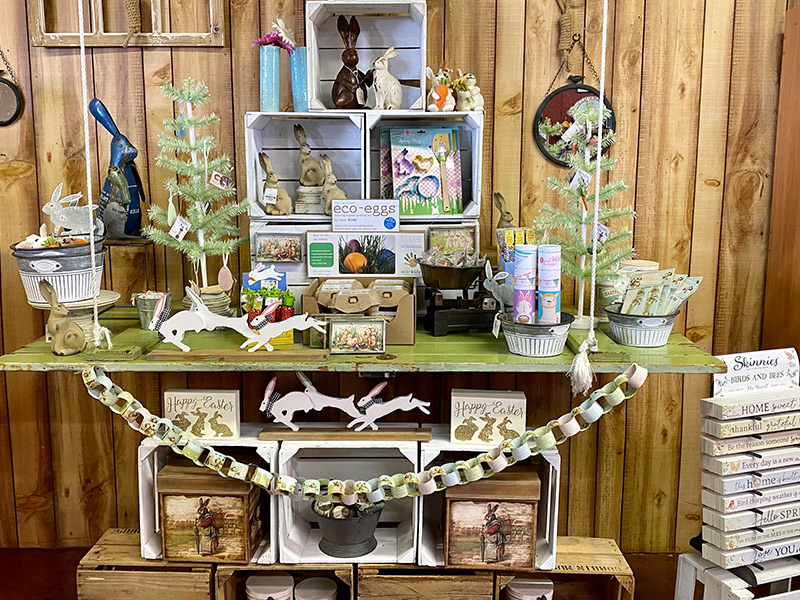 Display of Easter merchandise at Carter Mountain Orchard