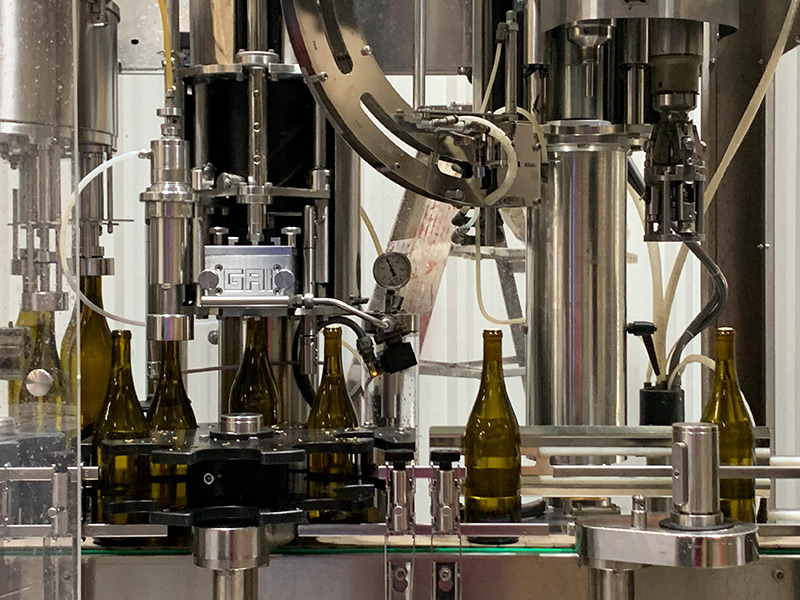 Carter Mountain wine being bottled