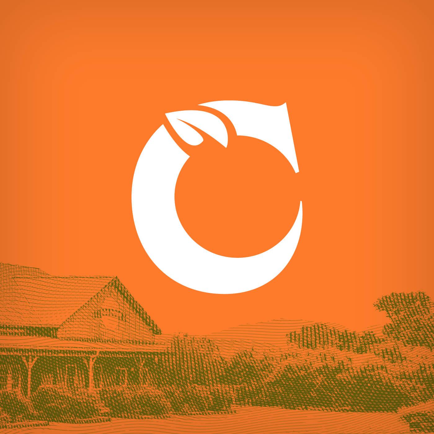 Chiles Peach Orchard new logo in orange icon