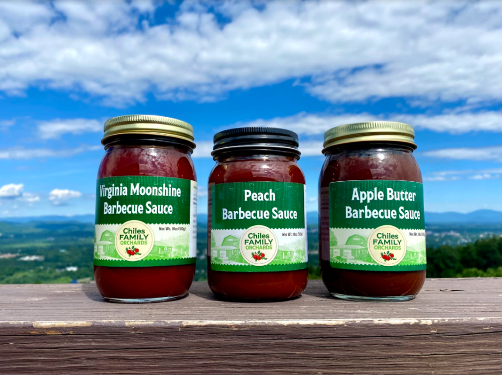 Barbecue sauces available at Carter Mountain Country Store