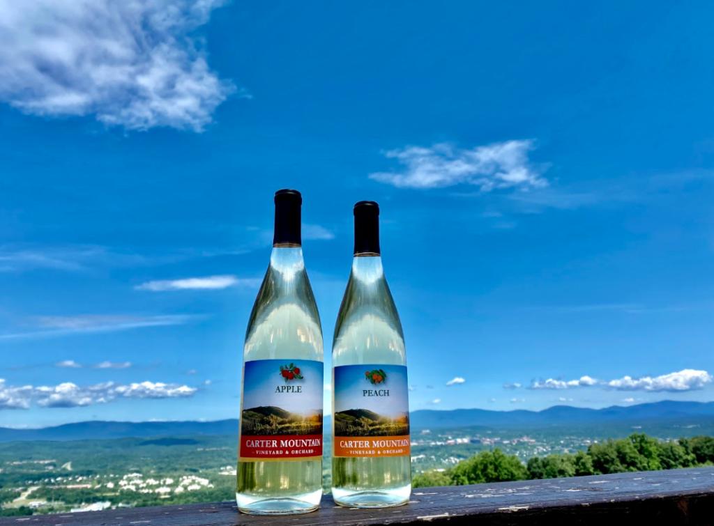 Apple and Peach Rapidan wine from Carter Mountain Wine Shop