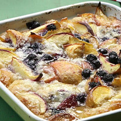 Peach and blueberry cobbler recipe from Southern Kitchen