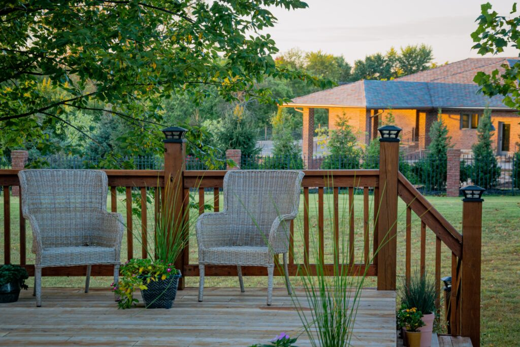 Comfortable outdoor seating for summer barbecues