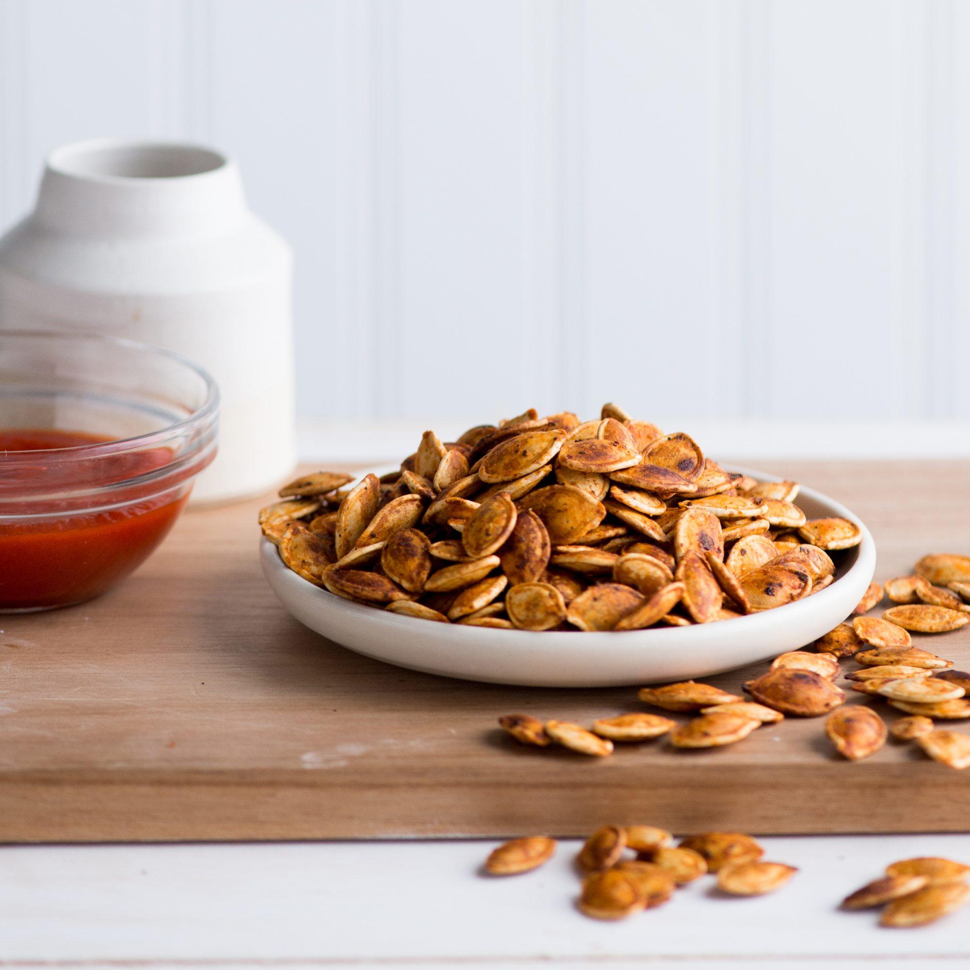 Sriracha roasted pumpkin seeds